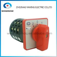 LW6-5/3 high dc voltage automatic electrical changeover rotary cam switch 3 poles 3 positions 5A 10A sliver point contacts(China)