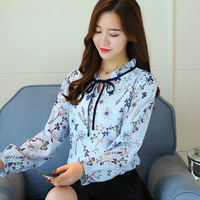 fashion-women-Chiffon-spring-autumn-summer-Bow-Ruffled-Stand-collar-long-Puff-Sleeve-blouse-female-girls.jpg_200x200