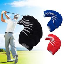 Hot Sale 10Pcs golf club head covers Iron Putter Protective Head Cover HeadCovers Set Neoprene Sports Golf Accessory