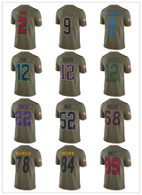 Men's Matt Ryan Tom Brady Khalil Mack Derek Carr Ryan Kerrigan Von Miller 2017 Olive Salute To Service Limited jerseys(China)