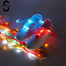 Glowing Shoelaces Nylon Shoe Laces Flash Light Up Glow Stick Straps Shoelaces Party Glowing Shoelaces 105cm LDD0291