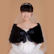 Cheap 2017 Black Bolero Jacket Wedding Dress Winter Warm Faux Fur Bridal Cape Party Prom Shawl Formal  Bridal Jackets