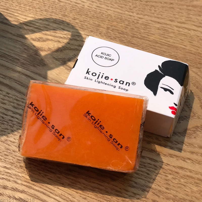 Kojie San Whitening Soap Skin Lightening Soap Bleaching Kojic Acid Glycerin Handmade Soap Deep Clean kojic acid soap 65g*2 3