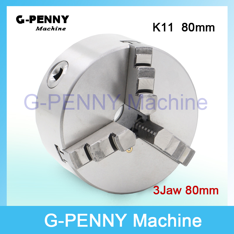 CNC 4th axis  A axis 80mm 3 jaw Chuck self-centering manual chuck K11 fourth jaw for CNC Engraving Milling machine Lathe Machine<br>