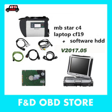 Mercedes MB Star SD C4 full set  with HDD V2017.05 Version Software+ laptop CF19 MB STAR C4 diagnosis compact 4 dianostic tool