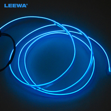 Blue 1m Flexible Moulding EL Neon Glow Lighting Rope Strip With Fin For Car Decoration #CA3267(China)