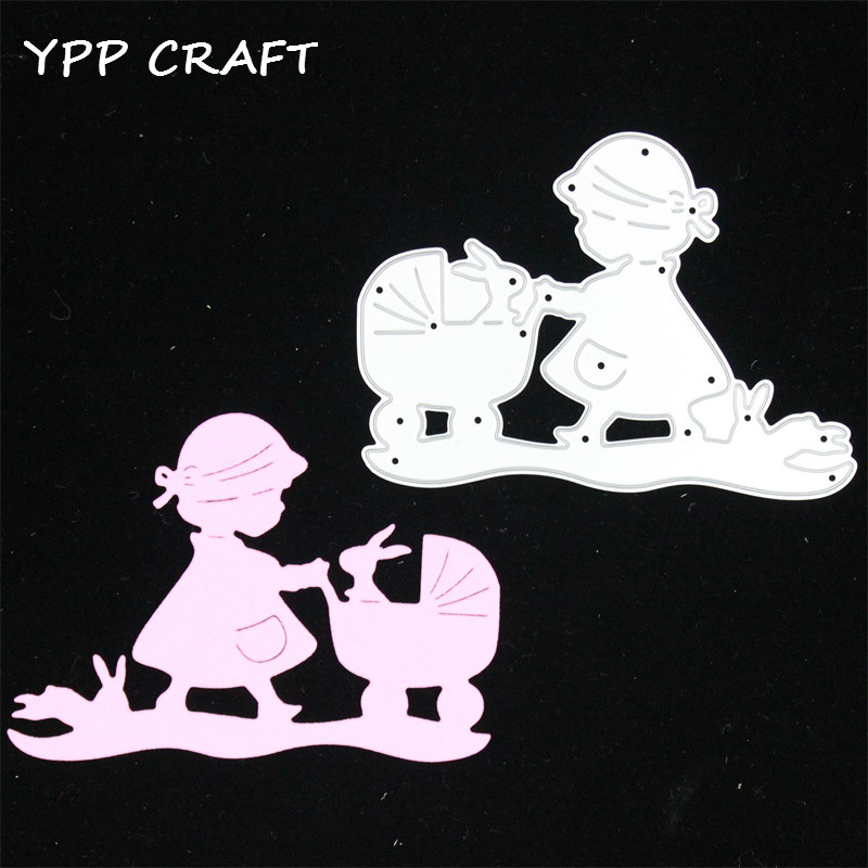 YPP CRAFT Baby Girl Metal Cutting Dies Stencils DIY Scrapbooking Stamp/photo album Decorative Embossing DIY Paper Cards