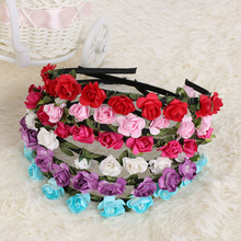 1PCS Hot Fashion New Design High Quality Festival Headband Flower Crown Wedding Garland Floral Hairband Accessories
