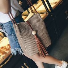 Women bags New Casual Brand The New Fringed Shoulder Bag Woven Straw Summer Handbag Messenger Bag Fashion Brand