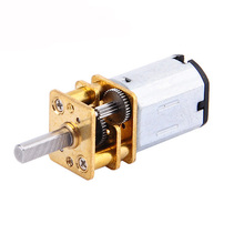 DC 12V 300RPM Gear Motor Electric Speed Reduction Shaft Diameter Reduction Gear Motor Full Metal Gearbox for RC Robot Model DIY