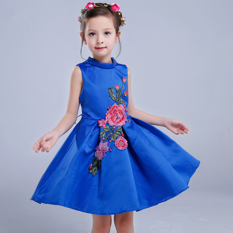 2017 Girls dresses New tutu dress princess embroidered high quality wedding party gift fashion flower kids childrens clothing<br><br>Aliexpress