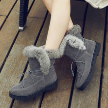 Shoes Woman Boots Ankle Boots for Women Australian Boots Fur 2018(China)