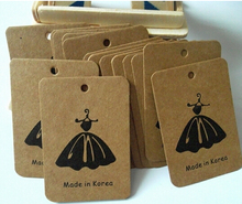 Wholesale custom craft paper hang tags, swing tags or garment tags with CMYI printing, make your design for free