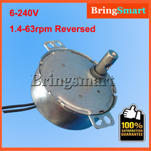6-24v 110v 220v 1.4 2 4 8 10 15 20 30 48 58rpm Crafts Rotate Exhibition Fan Microwave Oven Gear DC AC Synchronous Motor TYC-50(China)