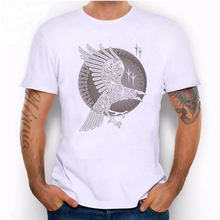 Hillbilly White RAVEN Eagle T-shirts Summer Men's Cool Tops Casual 2017 Graphic T-Shirt Unisex T Shirt Men Tees & Tops(China)