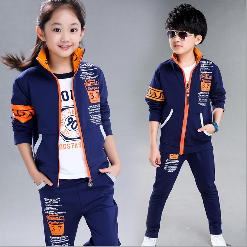 Fahion Long Sleeve Sets Of Clothes For Girls And Boys Print Letter Zipper Tracksuit Kids Kinderkleding Meisjes Two-piece Suits<br><br>Aliexpress