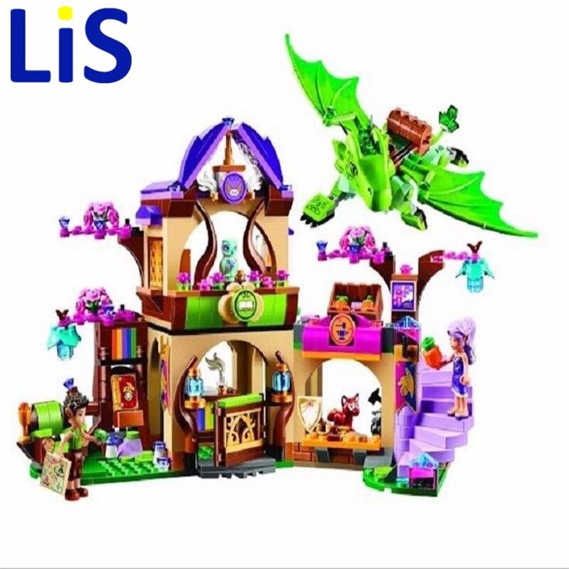 Lis 2016 Bela 10504 694Pcs Elves The Secret Market Place Model Building Kit Blocks Brick Girl Toy 41176  Lepin<br>
