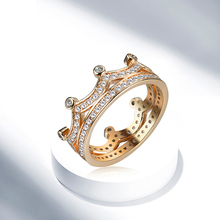 Retro Crown Zircon Ring Gold Silver Color Choose Unisex Lover Style Fashion Jewelry Assessories Good Holiday Gift Friend 5303