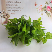 Latex cloth Green Fake Lifelike Plants Floral Artificial Leaves Leaf Grass Flower for Home Garden Decoration Bonsai