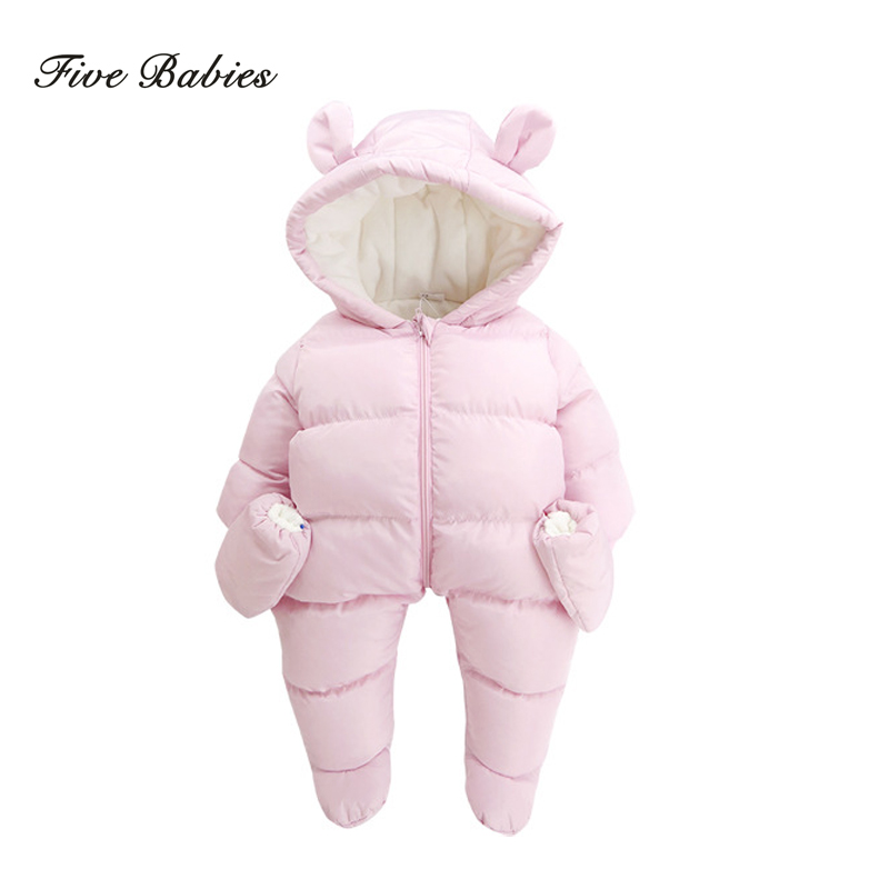 New Autumn Winter baby thick cotton the climb clothes children Coral fleece thickening long-sleeved jumpsuits boys girls romper<br>