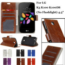 Luxury Retro Flip Leather Case With Photo Frame Card Insert Slots Wallet Stand Holder Cover For LG K3 K100 K100DS (No Flashlight(China)
