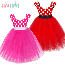 Minnie Mouse Girl Dress Children Bridesmaid Toddler Tutu Dress Pageant Wedding Birthday Party Kids Children's Princess Clothing