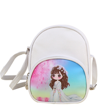 Cartoon Kids Girls Shoulder Bag Children Leather Mini Crossbody Baby Girl Schoolbag Book Bag Messenger Bag For Kindergarten(China)