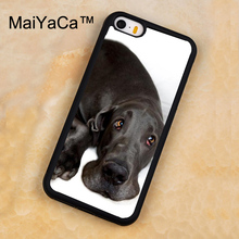 MaiYaCa Great Dane Large Breed Dog Printed Soft Rubber Mobile Phone Cases For iPhone 5 5S Back Cover For iphone SE Shell Cover(China)