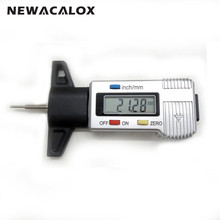 "0-1"" Caliper Micrometer Digital Tread Depth Gauge Precision Measuring 0-25mm/0.01 LCD Display Tyre Tread Brake Pad Wear Shoe(China)"