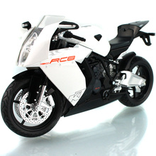KTM RC8 1/12 Scale Motocycle Model Motorbike Orange/White Color Collectible Diecast Toy(China)