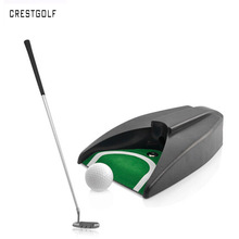 CRESTGOLF Golf Auto Return System Putt Golfing Training Golf Ball Kick Back Automatic Return Putting Cup Device