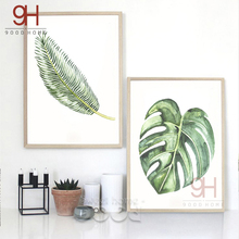900D Watercolor Tropical Leaf Canvas Art Print Poster,  Wall Pictures for Home Decoration, Wall Decor CM011-4&5