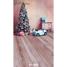 Buy 10ft vinyl print warm 3D Xmas tree wood floor photography backdrops kids & family photo studio portrait backgrounds ST-596 for $22.90 in AliExpress store