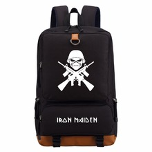 WISHOT Iron Maiden Classic Heavy Metal Metallica Rock backpack for teenagers Women's boy girl's  School Bags travel Shoulder Bag