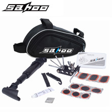 Sahoo Multifunction 15 in 1 kit functions Cycling Bicycle Tools Bike Flat Tire Repair Kit Tool Set with Pouch Pump(China)