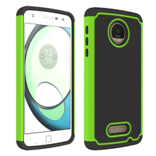 For Motorola MOTO Z Play Droid Case PC + Soft Silicone Dual Layer Anti Shock Hard Impact Shield Case For Moto Z Play Cover Cases