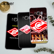 Ciciber Москва FC Spartak Капа для Coque Samsung Galaxy S7 Edge S8 S9 плюс J5 J7 2016 Note 8 крышка Мягкие TPU чехол для телефона(China)