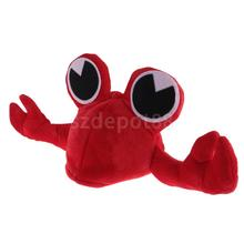 Cartoon Red Crab Costume Seafood Unisex Kids Adults Hat Mask Cap Fancy Dress Costume Accessory Party Birthday Gift