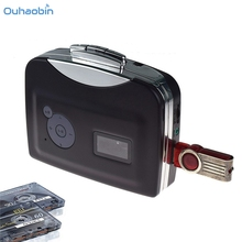 Ouhaobin New Popular Portable Digital USB CasSepte Audio Music Player and Tape-To-MP3 Converter Featured Black Mp3 Player Sep21(China)