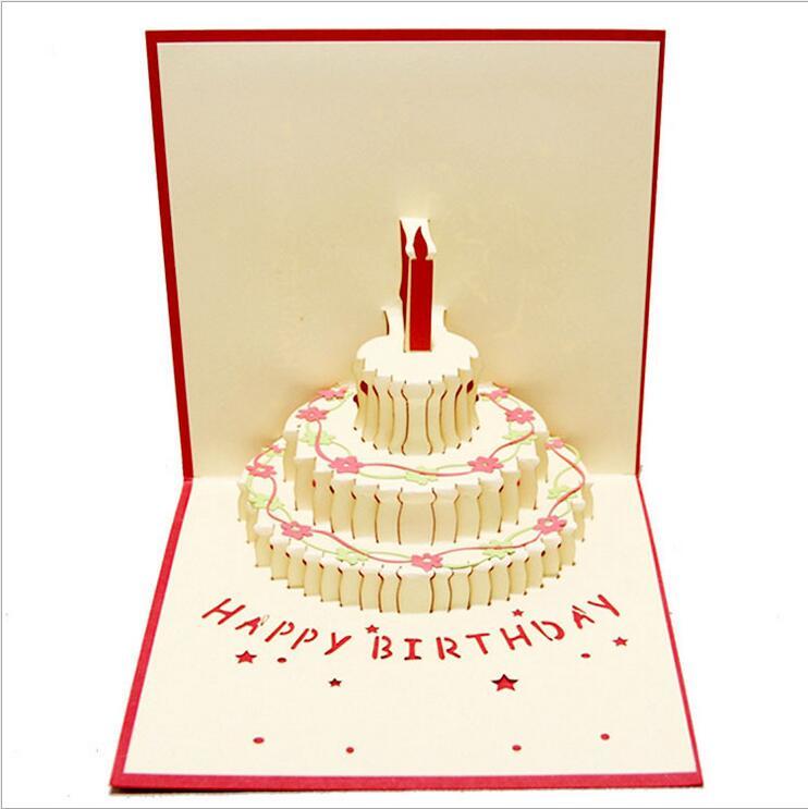 С днем рождения открытки объемные