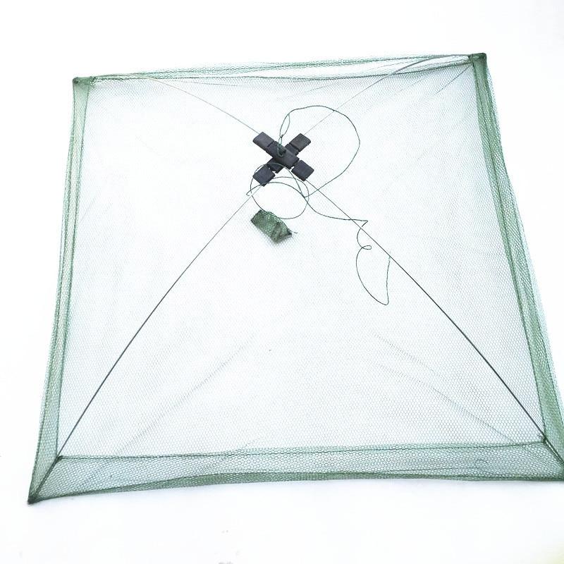 60x60cm 80x80cm 100x100cm Square Fishing Landing Net Trap Network for Catching Shrimp Crab Small Fishes Fishing Tool (1)