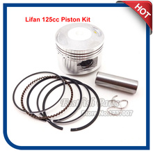 52mm Piston 14mm Pin For Chinese Lifan 125cc Engine ATV Quad Pit Dirt Motor Bike