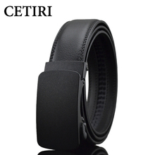 Luxury Business Casual Belt Man Black Brown Genuine Leather Belts For Jeans Automatic Buckle Strap Belt Cintos Free Shipping(China)