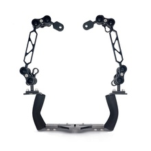 "Scuba 150mm 6"" Diving Underwater Arm System Bracket for Camera Housing Case Or Led Torch Flashlight - Base Tray and Dual Handle"