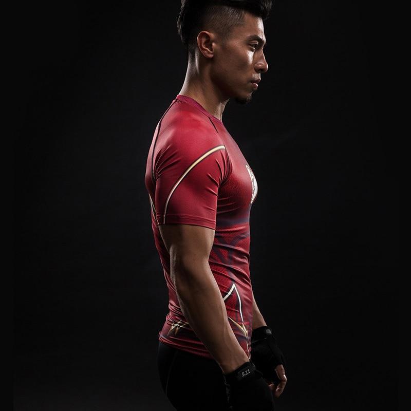 Short Sleeve 3D T Shirt Men T-Shirt Male Crossfit Tee Captain America Superman tshirt Men Fitness Compression Shirt Punisher MMA 23