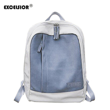 ae127fb2ea4c EXCELSIOR 2019 New Female Backpack Hot Sale Patchwork Colorful Canvas Women s  Bag Couple School Bags for