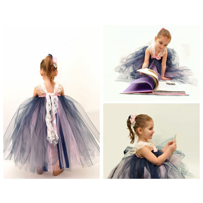 Princess Girls Tutu Dress Shoulderless 4 Colors For 2-10Y Wedding/Birthday/Party Cute Flower Baby Girl Ball Gown Dresses PT189<br><br>Aliexpress