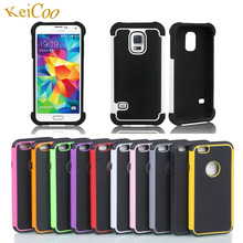 2 in 1 Phone Cases For SAMSUNG Galaxy S5 mini G800F PC TPU Silicon Shockproof Covers S5 mni Duos SM-G800H Man Women Full Housing(China)