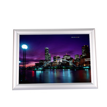 1Pc A4 Silver Poster Stand Snap Frames Aluminium Clip Wall Poster Displays Home Decorate