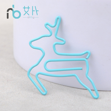 Free shipping Right hand stationery animal clip cartoon bookmark multicolour needle customize gift stationery deer paper clips(China)